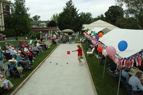 Assisted Living header -- bocce